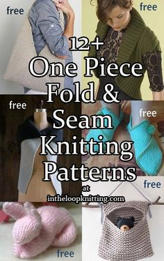 One Piece Fold and Seam Knitting Patterns