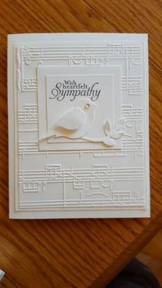 Super Ideas birthday card music embossing folder – Oh, les rues de France! Cricut Cards, Embossed Cards, Stampin Up, Get Well Cards, Card Sketches, Creative Cards, Cool Cards, Greeting Cards Handmade, Scrapbook Cards