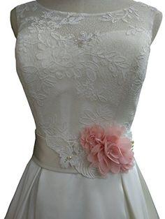 Vintage Millinery Flower White Velvet Organza Bride P19