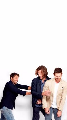 Misha, Jared and Jensen