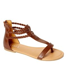 Tiara Brown Sami Sandal by Tiara #zulily #zulilyfinds
