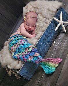 Newborn baby mermaid photography
