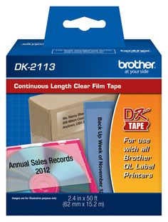 Brother clear printer labels #Brother #LabelIt #ptouchdirect.com #organization #DIY