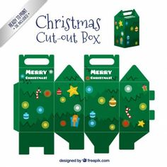 Boîte de sapin de Noël