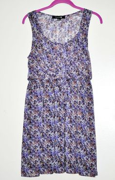 FOREVER 21 WOMEN DRESS Floral Print Cross Tie Front Lining Sleeveless size M NEW #FOREVER21 #TeaDress #Casual