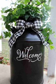 DIY Porch and Patio Ideas - Recycled Milk Can - Decor Projects and Furniture Tut. - DIY Porch and Patio Ideas – Recycled Milk Can – Decor Projects and Furniture Tutorials You Can - Patio Diy, Diy Porch, Patio Ideas, Landscaping Ideas, Backyard Patio, Backyard Ideas, Farmhouse Landscaping, Outdoor Landscaping, Diy Yard Decor