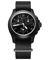 Victorinox Swiss Army Watch, Men's Chronograph Black Nylon Strap 40mm 241534