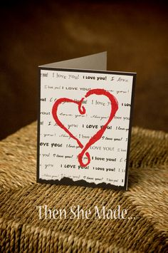 Very simple idea for creating Valentine's Day cards...make them funny, or romantic, or sweet. Make them for your honey or your kids. The beauty of these cards is that you can personalize them for anyone in your life. And the technique can be applied for any holiday, any occasion.