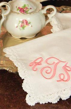 For the Mother of the Bride and Groom- Heirloom Crocheted Handkerchief EN0002