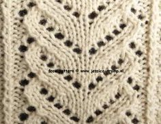 This pattern is one of my favorites. On a Website with several lace stitches in patterns (written and with chart) Knitting Stiches, Crochet Stitches Patterns, Knitting Charts, Lace Patterns, Lace Knitting, Stitch Patterns, Knitting Patterns, Knit Crochet, Knit Stitches