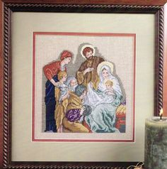 Your place to buy and sell all things handmade Cross Stitch Charts, Cross Stitch Patterns, Holy Family, Vintage Barbie Dolls, Baby Jesus, Christmas Cross, Peace And Love, Nativity, Joseph