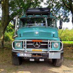 Die Sintflut kann kommen Für den 1959 eingeführten Kurzhauber von Mercedes-Benz, hier als Camper mit gleich zwei Schnorchelauspuffrohren, gibt es wohl kaum noch Hindernisse auf dem Weg zu welchem Z…