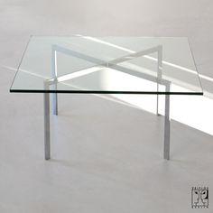 Mies van der Rohe Barcelona Table. Add a lower wood shelf