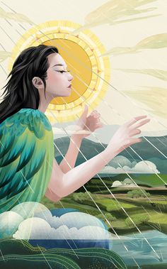 New series about the 24 solar terms (Ⅰ) on Behance Painting Inspiration, Art Inspo, Goddess Art, Surreal Art, Asian Art, All Art, Cute Art, Wallpaper, Amazing Art