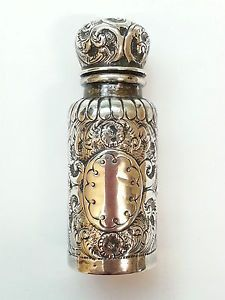 victorian perfume bottles | ANTIQUE-VICTORIAN-PERFUME-BOTTLE-SILVER-ENCASED-BIRMINGHAM-1886-REF ...
