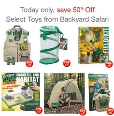 Save 50% on select toys from Backyard Safari Products (Today Only) - http://couponingforfreebies.com/save-50-on-select-toys-from-backyard-safari-products-today-only/