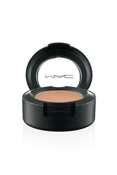 """MAC eyeshadow is a one-sweep wonder. Satin Soba is a medium brown with the subtlest hint of glimmer, straddling the line between matte and shimmery. You can also use it to contour. (One makeup artist has even referred to it as a """"nose job in a pot."""") In Korea, it's rumored to be the shading tool of choice when contouring post-plastic surgery, to help you gradually ease those around you to your new face."""