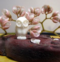 Little Hantu Owl Carved Bone Bead by Indounik on Etsy