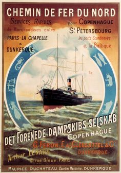 Vintage ferry poster