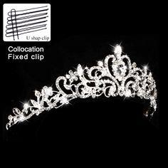 ページェントクリスタルキングクラウンパールプリンセス花嫁ティアラ王冠結婚式のティアラと王冠ラインストーン女王ブライダルヘアアクセサリー