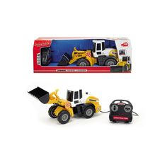 Dickie Toys Remote Control 21-in. Construction Wheel Loader Vehicle, Yellow