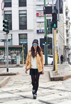 http://www.mariezamboli.com/2014/02/terzo-outfit-da-fashion-week-easy-look.html  #mariezamboli #parka #beanie