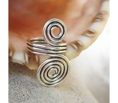 Wire Ring - Double swirls on Etsy by Wire Design by Danilo Santini