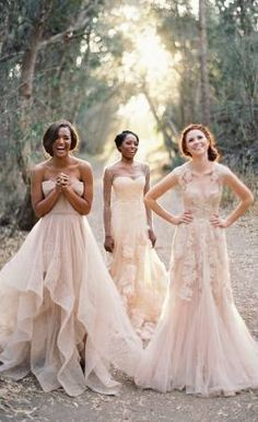 blush wedding dresses bridesmaid dresses