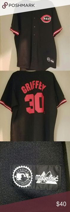 Majestic Cincinnati Reds Ken Griffey Jr Jersey XL Majestic Cincinnati Reds Ken Griffey Jr Jersey XL Majestic Other