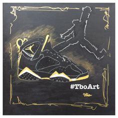 GMP pack Jordans VII canvas art