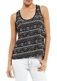 2b Maria Tribal High Low Tank Top