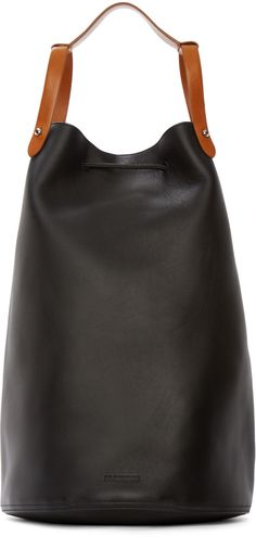 Jil Sander - Black Leather Runway Backpack