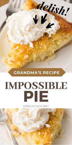 Pineapple Sheet Cake Recipe, Pineapple Dessert Recipes, Best Dessert Recipes, Pie Recipes, Easy Desserts, Delicious Desserts, Yummy Food, Healthy Desserts, Gastronomia