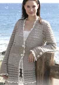 Jacket in Silke-Tweed Over 150 plus size crochet patterns