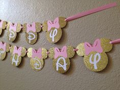 Minnie Mouse Birthday Banner Minnie Mouse by CuddleBuggParties Mickey Birthday, Birthday Diy, First Birthday Parties, Birthday Party Decorations, First Birthdays, Minnie Mouse Theme Party, Shower, Pink, Color