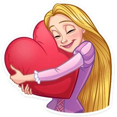 Punk Disney Princesses, Disney Characters, Fictional Characters, Telegram Stickers, Watercolor Heart, Disney Art, Rapunzel, Pugs, Aurora Sleeping Beauty