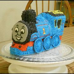 Thomas Cake made using the Wilton Choo Choo Train pan.