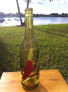 Song Bird Recycled Wine Bottle Incense Burner / by CreationsByTia, $19.99