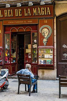 El Rey de la Magia,unes de tendamolt antiga, Barcelona  Catalonia