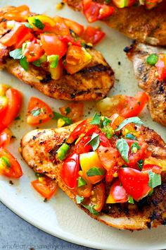 Juicy grilled chicke