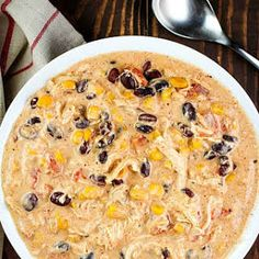 Easy Crock Pot Cream Cheese Chicken Chili with Black Beans, Corn, Rotel Tomatoes, Ranch Dressing Mix Cream Cheese Chicken Chili, Crockpot White Chicken Chili, Crockpot Chicken Enchilada Soup, Cheesy Chicken Tortilla Soup, Ground Chicken Chili, Slow Cooker Chicken Chili Recipe, White Chilli, Chicken Taco Chili, White Bean Chicken Chili