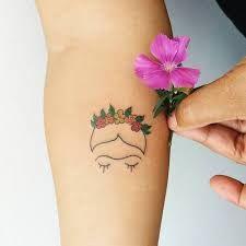 Image result for minimal frida kahlo tattoos
