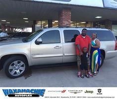 https://flic.kr/p/JGjjcv | Happy Anniversary to Majreil on your #GMC #Yukon XL from Scott Smith at Waxahachie Dodge Chrysler Jeep! | deliverymaxx.com/DealerReviews.aspx?DealerCode=F068