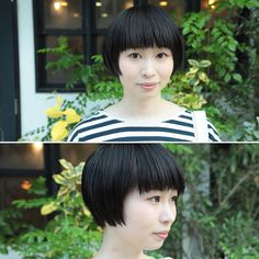黒髪ショート☆ #Marais#マレ#京都#山科#美容室#hair#hairstyle#黒髪#ショートヘア