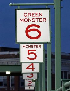 Green Monster Signs