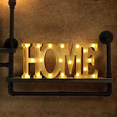 BRIGHT ZEAL Decorative LED Marquee Sign HOME 18 x 8 x 22 Big Batteries Included Bronze LED Light up Letters and Illuminated HOME Decorations for Living Room Gift For Home Decor >>> Find out more about the great product at the image link. Home Wall Decor, Bedroom Decor, Big Battery, Light Up Letters, Marquee Sign, Office Signs, Personalized Wall Art, Decorative Signs, Living Room With Fireplace
