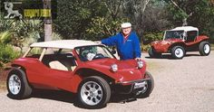Bruce Meyers with his Manx Dune Buggy