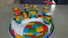Minion lego cake