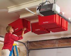 high-ceiling garage storage idea