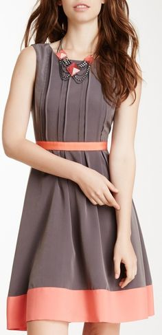 Jessica Simpson Pleated Colorblock Dress